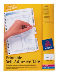 Avery Printable Self Adhesive Tabs White Pack Of 80 By Office Depot