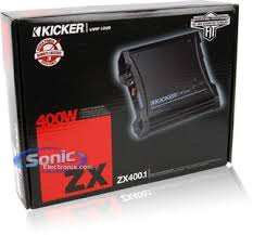 kicker zx zx class d mono amplifier car amp product kicker zx400 1 11zx400 1