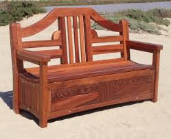 image of patio bench and storage