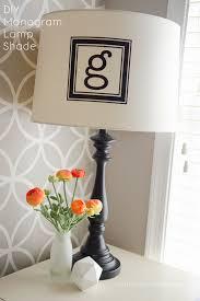 craftaholics anonymous monogram lamp shade