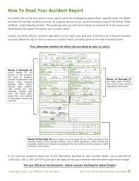 how to read your accident report pdf