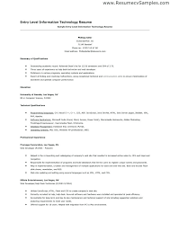 Cover Letter Examples For Information Technology Information