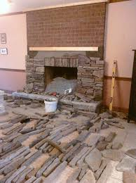 best choice of stone veneer fireplace surround over brick round designs on