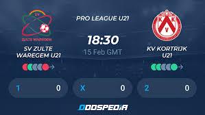SV Zulte Waregem U21 - KV Kortrijk U21 » Live Score & Stream + Odds, Stats,  News
