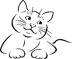 cat drawing outline. Simple Outline Cat Drawing Outline Inside N