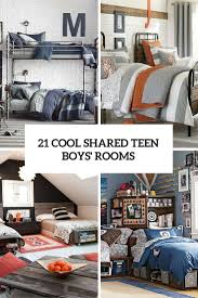 shared bedroom design ideas. 21 Cool Shared Teen Boy Rooms Décor Ideas Bedroom Design R