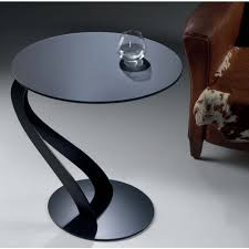 swan small table by pezzani with glass