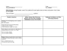 Poetic Devices Chart Regents Review Poetic Devices Chart To Be Used With Any Poem