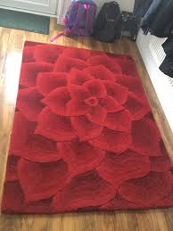 100 wool rug marks spencer red rose design 120