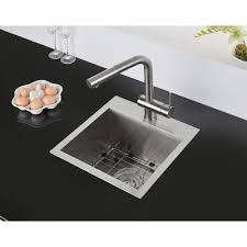 15 X 15 Inch Drop In Topmount Bar Prep Sink 16 Gauge Stainless Steel