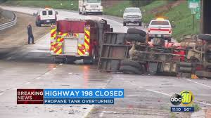 Highway 198 closed in both directions near Ben Maddox after Propane ...