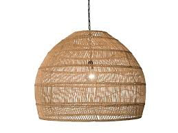 quick view open weave cane rib bell pendant lamp extra large natural