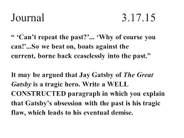 Important Quotes From The Great Gatsby Interesting Journal Below Are Two Important Quotes From Chapter 48 Of The Great