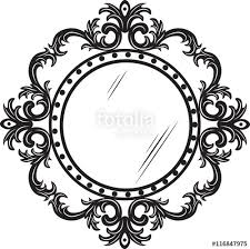 mirror frame drawing. 374x539 Vintage Mirror Drawing. 500x499 Round Ornamented Frame.  Vector Decorated Frame Stock Drawing E
