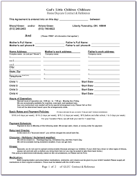 Statement Daycare Year End Tax Template Free Printable Contract
