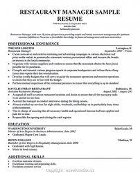 Restaurant Manager Resume Skills Real Estate Resume Examples Best Of Restaurant Manager Resume