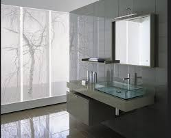 contemporary wall sconces bathroom. Floating Contemporary Bathroom Vanities With Large Mirror And Small Shelf Under Wall Sconces S