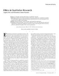 Qualitative research papers generally have demands that may not be necessary for another type of research paper. Http Www Columbia Edu Mvp19 Rmc M5 Qualethics Pdf