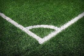 Soccer field grass conner Stock Photo Colourbox