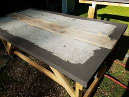 concrete and wood furniture. Picture Of Finishing The Concrete And Wood Furniture C