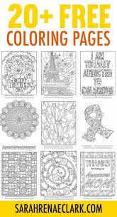 20 Free Coloring Pages For Adults