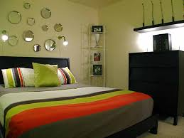 Small Bedroom Paint Colors Adorable Small Bedroom Ikea Design With Green Lime Wall Paint