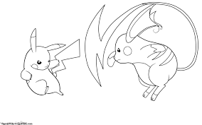 Printable Coloring Page New Unique Pokemon Pages Raichu Design Of On