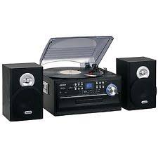 jensen radio jensen three speed stereo turntable w cd am fm radio cassette