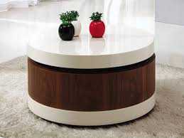 round coffee table storage for inspiring best pertaining to with decor 14
