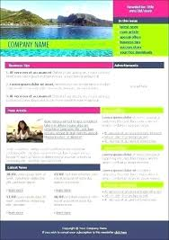 2 Page Newsletter Template Free Templates Word Holiday F