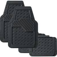 Diamond Car Floor Mats Black Set of 4 Synthetic Rubber