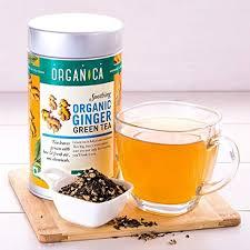 Amazon Com Organica Delhi Indian Ginger Green Tea 100 Gm