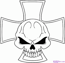 9 Pics Of Skull Graffiti Coloring Pages - Cool Easy Skull Drawings ...