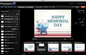 Free Memorial Day Templates From Proclaim Logostalk
