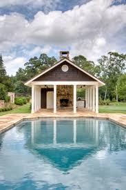 diy pool house decor diy house decor pool farmhouse with stone chimney outd on pool