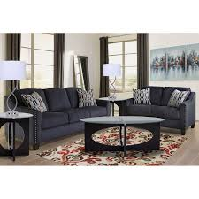 Brown leather living room furniture Chesterfield 2piece Creeal Heights Living Room Collection Aarons Rent To Own Loveseats Sofas And Couches Aarons
