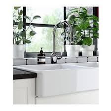 HAVSEN Apron Front Double Bowl Sink White Ikea Apron Sink A14