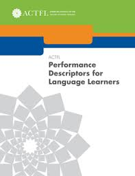 Actfl Performance Descriptors For Language Learners Actfl