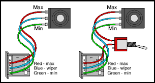 uni egret wiring options 4qd electric motor control the standard controllers suits a standard 10k pot simplest wiring is shown in the diagram above left