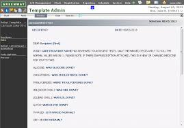 correspondence template template admin