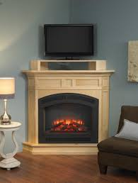 Interior Delightful Corner Electric Fireplace Design Ideas