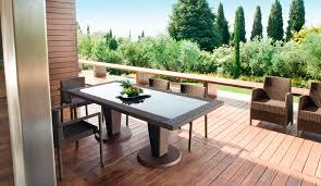 Ensemble table et chaises contemporain / en rotin / de jardin - ST ...