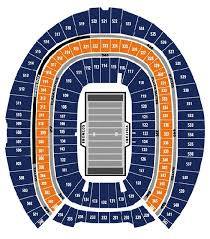 Invesco Field Seating Chart With Seat Numbers Stadium Seat Numbers Online Charts Collection