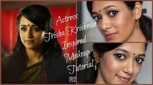 south indian actress trisha krishnan inspired makeup tutorial yennai arindhaal beauty5 by dhiv you