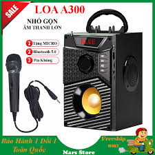 Loa Bluetooth Kèm Micro, Loa Hát Karaoke Kết Nối Điện Thoại, Loa Công Suất  Lớn, Loa A300 Hozito Cao Cấp Version 2021