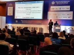 """GRV Global on Twitter: """"#ASEC18 Closing Ceremony ahead of final 1-2-1 #PPPs  matchmaking session... Conference Chair MG Arnold Fields USMC (RET)  @napawash a.k.a. the 'Singing General' wraps up 2 days of high-level #"""