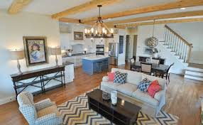 image of open concept cottage style house plans room