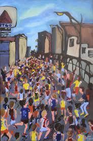 runners surge past boston s iconic citgo sign as they head toward the boston marathon finish in