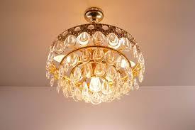 vintage teardrop crystal chandelier from palwa 4