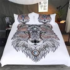 tribal wolf art bedding set wolvestuff intended for comforter sets idea 12